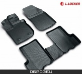 Коврики в салон L.Locker полиуретан черный 205100301 Nissan Tiida (2G) 2015-