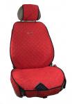 Накидки на передние сиденья из алькантары (RED-3)