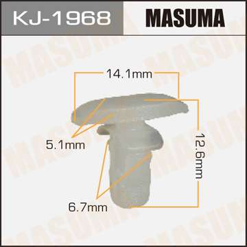 Клипса автомобильная (автокрепеж), уп. 50 шт. Masuma KJ-1968