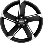 Диск колесный Fondmetal 7 900 7xR17  5x120 ET50 ЦО72,5 чёрный матовый с полированной лицевой частью 7900 7017505120INA4
