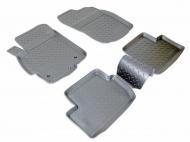Коврики салона (полиуретан), чёрные (SD/HB) Norplast NPL-Po-59-25 для Mitsubishi Lancer 2007 -