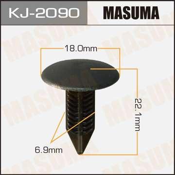 Клипса автомобильная (автокрепеж) салонная черная, 1 шт., Masuma KJ-2090