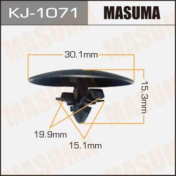 Клипса автомобильная (автокрепеж), уп. 50 шт. Masuma KJ-1071