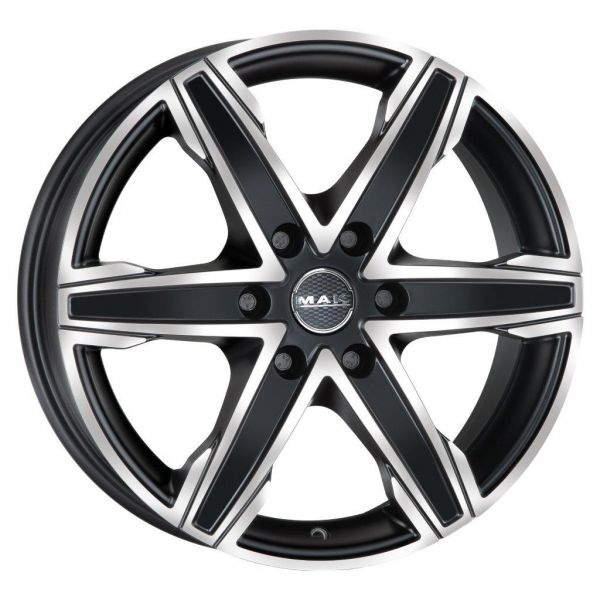 Диск колесный MAK King6 9xR20 6x139,7 ET38 ЦО67,1 черный матовый с полированной лицевой частью F90206GIB38VO3