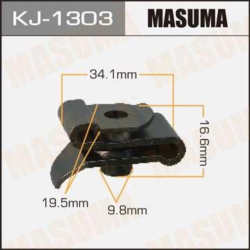 Клипса автомобильная (автокрепеж), 1 шт., Masuma KJ-1303