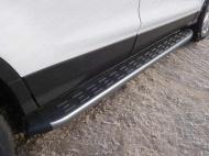 Пороги алюминиевые с пластиковой накладкой TCC FORKUG17-32GR Ford Kuga 2016-