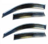 Дефлекторы на окна с хромированным молдингом ALVI-STYLE