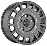 Диск колесный OZ Rally Racing 8xR18 5x112 ET45 ЦО75 тёмный графит с серебристыми буквами W01A12205T9