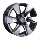 Диск колесный Replay TY311 7.5xR17 6x139.7 ET25 ЦО106.1 серый глянцевый с полированной лицевой частью 081569-160038007