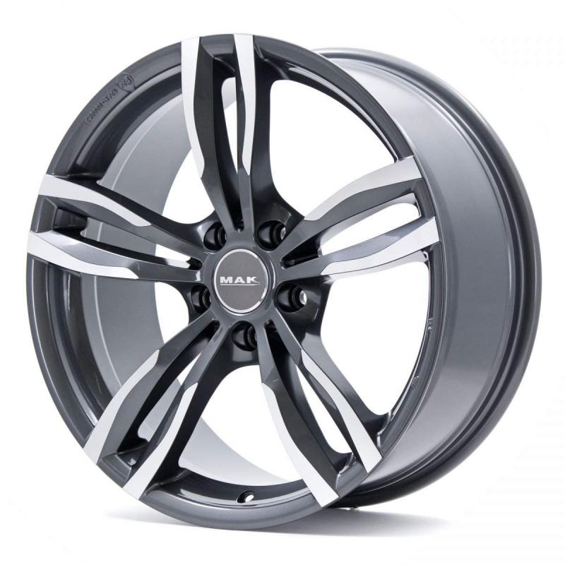 Диск колесный MAK Luft W 7,5xR17 5x112 ET54 ЦО66,6 серый с полированной лицевой частью F7570LTQM54WS5X