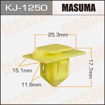 Клипса автомобильная (автокрепеж), уп. 50 шт. Masuma KJ-1250