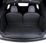 3D обшивка в багажник с нахлестом на сиденья (черный) GPPower S4321132132112 для Tesla Model S (2012 - 2016)