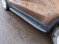 Пороги алюминиевые с пластиковой накладкой TCC KIASPORT18-37BL Kia Sportage 2018-