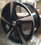 Диск колесный Carwel Бараус 201 7xR17 5x100 ET45 ЦО67.1 черный с полированной лицевой частью 98419