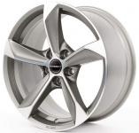 Диск колесный Borbet S 9xR20 5x120 ET40 ЦО74,1 серый матовый с полированной лицевой частью 222162