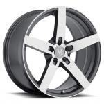 Диск колесный Mandrus Arrow 8xR17 5x112 ET32 ЦО66,6 серый темный с полированной лицевой частью 1780MAA325112G66
