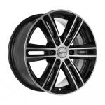 Диск колесный X'trike X-124 7.5xR17 6x139.7 ЕТ25 ЦО106.1 черный полированный 67565