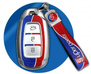 Чехол для ключей кожаный с ремешком You Qiang QNG00101 для Hyundai Sonata (8G) DN8 2020-