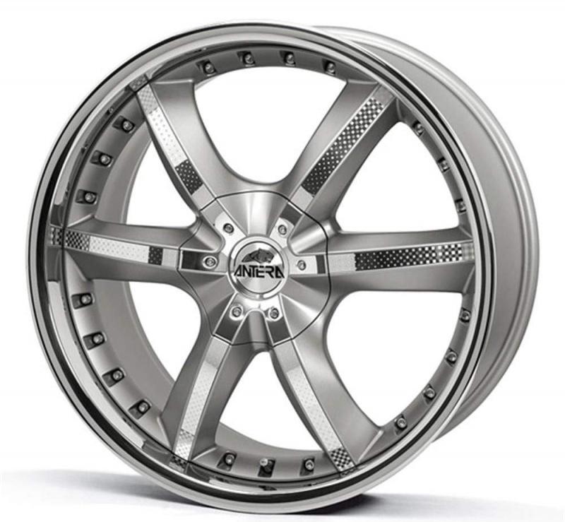 Диск колесный Antera 389 9,5xR20 5x120 ET40 ЦО74,1 серебристый с вставками карбон и полированным обод 389 950 G02