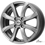 Диск колесный iFree Дайс 6xR15 4x114.3 ET45 ЦО67.1 серый тёмный глянцевый 265507