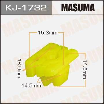 Клипса автомобильная (автокрепеж), уп. 50 шт. Masuma KJ-1732