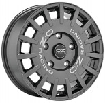 Диск колесный OZ Rally Racing 8xR17 5x112 ET45 ЦО75.0 темный графит с серебристыми буквами W01A33205T9