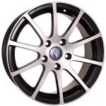Диск колесный VENTI 1603 6,5x16 4x100 ET42 ЦО60,1 черный с полированной лицевой частью V603-6516-601-4x100-42BD