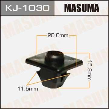 Клипса автомобильная (автокрепеж), уп. 50 шт. Masuma KJ-1030