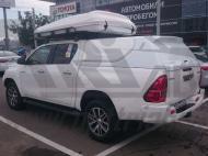 Кунг для кузова, цвет - белый (двойная кабина, 3 двери) АВС-Дизайн ABC.TOHIL.BR.05W Toyota Hilux 2015-