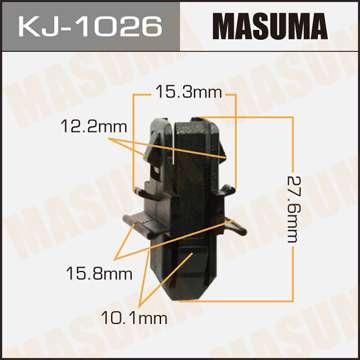 Клипса автомобильная (автокрепеж), уп. 50 шт. Masuma KJ-1026
