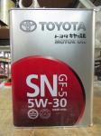 Масло моторное синтетика 5W-30 4 л. TOYOTA 0888010705
