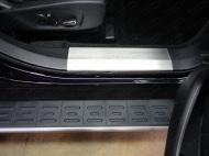 Накладки на дверные пороги (лист шлифованный) 2 шт. Компания ТСС FOREXPL16-23 Ford Explorer 2016 - 2018