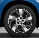 Диск колесный R17 BWW Turbine styling 561 36116856062 сильвер блэк BMW Х1 (F48) 2015-
