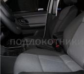Подлокотник (черный, кожа) Опора России 0015 для Skoda Fabia 2007 - 2012