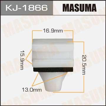 Клипса автомобильная (автокрепеж), уп. 50 шт. Masuma KJ-1866