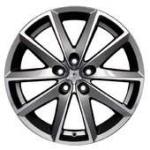 Диск колесный Fondmetal 7600 7.5xR17 5x100 ET35 ЦО67.2 серый с полированной лицевой частью 7600 7517355100ZTA2