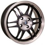 Диск колесный Venti 1502 6xR15 4x100 ET45 ЦО54.1 чёрный с полированной лицевой частью rd831743