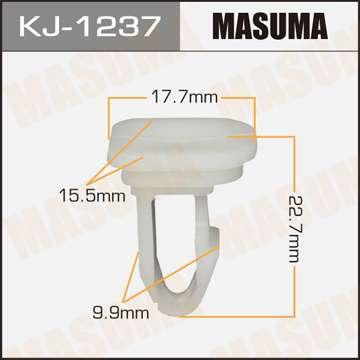 Клипса автомобильная (автокрепеж), уп. 50 шт. Masuma KJ-1237