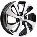 Диск колесный RST R006 6xR16 4x100 ET50 ЦО60.1 черный матовый с полированной лицевой частью rd833212