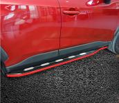 Пороги, боковые подножки Pig Car для Toyota RAV4 ( Тойота Рав4 )