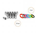 Комплект Fondmetal 20 гаек, 4 кольца гайка 12x1.5x35 19 конус кольцо 67.2x64.1 F44/C