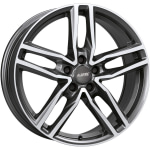 Диск колесный Alutec Ikenu 8xR18 5x112 ET45 ЦО70.1 серый темный с полированной лицевой частью IKE80845B72-9