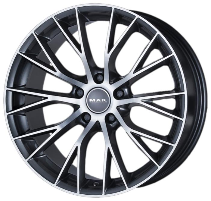 Диск колесный MAK Munchen 8xR18 5x120 ET34 ЦО72,6 серый с полированной лицевой частью F8080MUQM34I4B