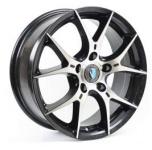 Диск колесный Venti 1 617 6.5xR16 5x100 ET40 ЦО57.1 чёрный с полированной лицевой частью rd833078