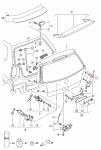 Электропривод замка крышки багажника VIKA 99591801401 для Volkswagen Polo (5G) Sedan 2009 -