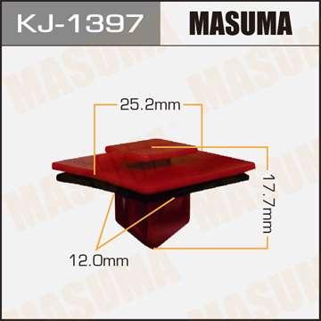 Клипса автомобильная (автокрепеж), уп. 50 шт. Masuma KJ-1397