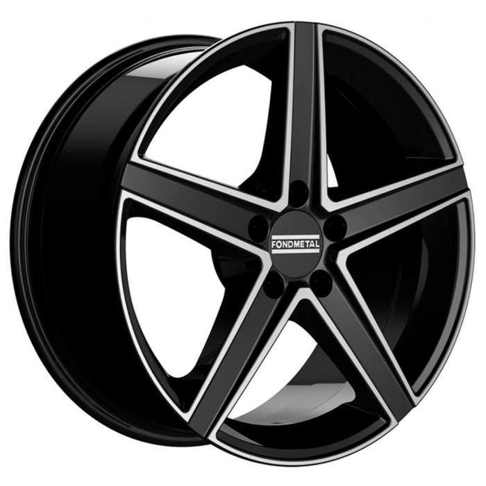 Диск колесный Fondmetal Ioke 8xR18 5x112 ET38 ЦО66,5 черный матовый с полированной лицевой частью FMI03 8018385112 NA4