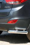 Защита задняя уголки 76/42 мм двойные Souz-96 HYIX.76.1066 Hyundai ix35 2010-