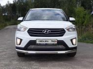 Защита передняя нижняя с ДХО (овальная) TCC HYUNCRE16-26 Hyundai Creta 2016-