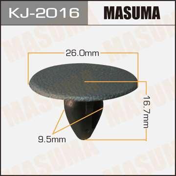 Клипса автомобильная (автокрепеж) салонная черная, уп. 50 шт. Masuma KJ-2016